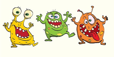 infection control a scrub s life germs clip art purple germs clip art images
